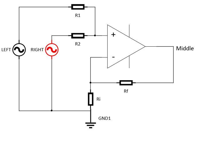 Non Inverting Summing Amplifier